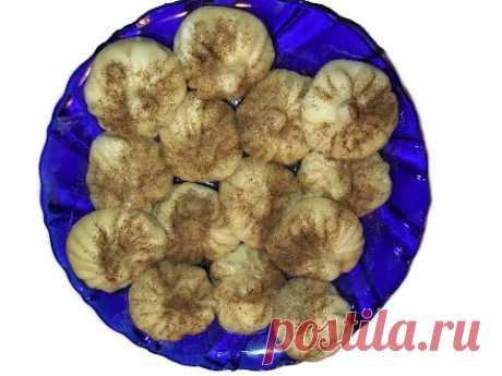 Хинкали с картофелем - грузинская кухня (трапеза во время поста)