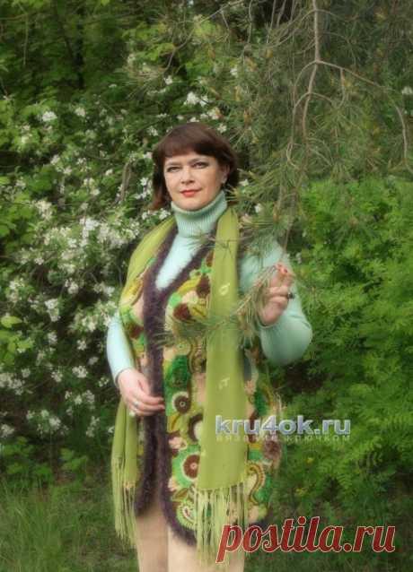 Vest Berendeev wood. Svetlana Shevchenko's work - knitting by a hook on kru4ok.ru