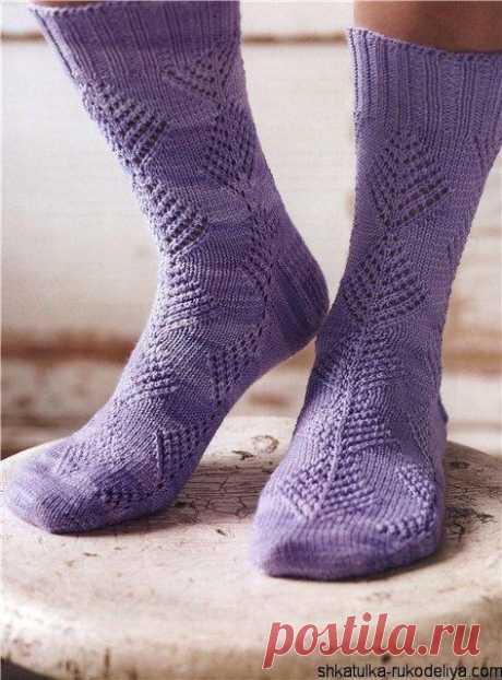 Вязание ажурных носков спицами. Как связать ажурные носки спицами | Шкатулка рукоделия. Сайт для рукодельниц.