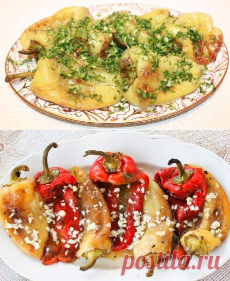 El pimiento frito con el ajo \/ las recetas Simples