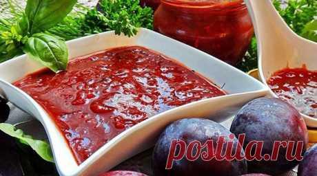 Оригинальная острая аджика из слив для мясных блюд