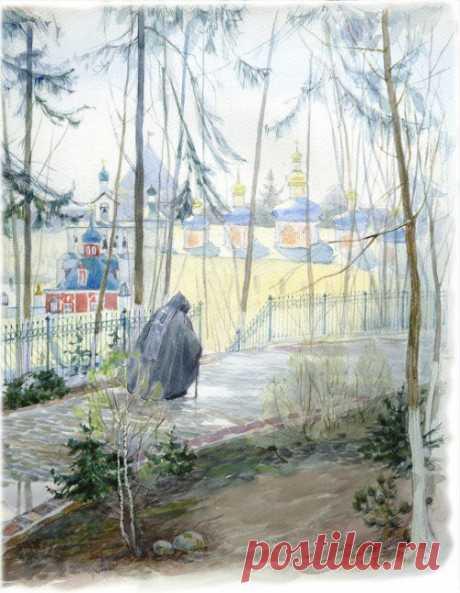 Акварельные пейзажи. Алия Нуракишева