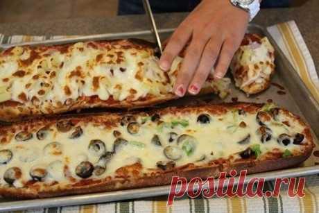 Пицца-хлеб за 10 мин - Простые рецепты Овкусе.ру