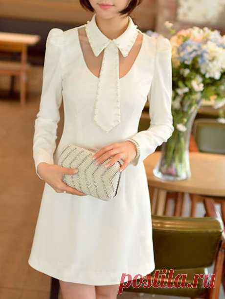 Beaded Polyester Mini dress