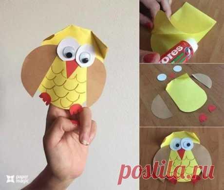 Бумажное творчество для малышей — Поделки с детьми