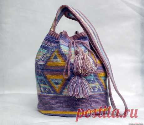 Этот мастер-класс вязания сумки крючком со схемами и описанием расскажет как связать сумку в эностиле.