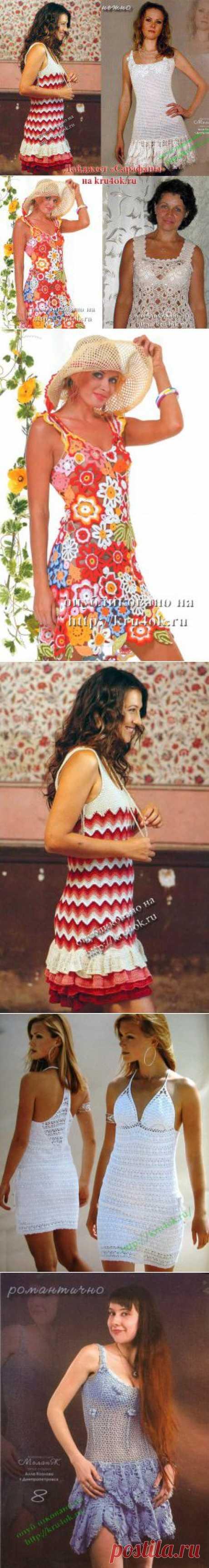 Дайджест: вязаные летние сарафаны для женщин - вязание крючком на kru4ok.ru