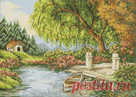 схемы вышивки крестом пейзажи - 109 тыс. картинок. Поиск Mail.Ru
