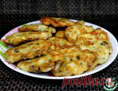 Оладьи из курицы и шампиньонов – кулинарный рецепт