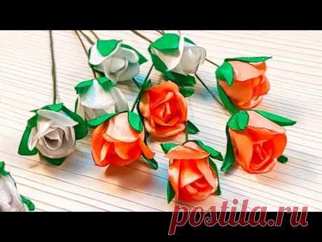 Satin Roses Tutorial | DIY Mini Ribbon Roses | Мини Розы из лент для бутоньерки - МК - YouTube