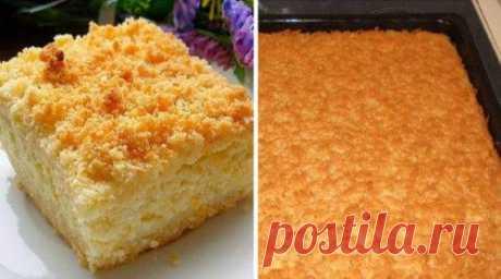 Рецепт тертого пирога с творогом -