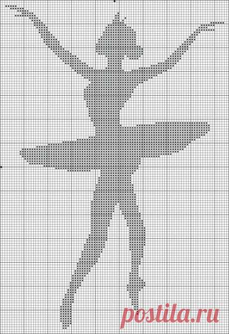 Вышивание крестиком, схемы балерин / Вышивание крестиком - схемы вышивки для начинающих, картинки / КлуКлу. Рукоделие - бисероплетение, квиллинг, вышивка крестом, вязание