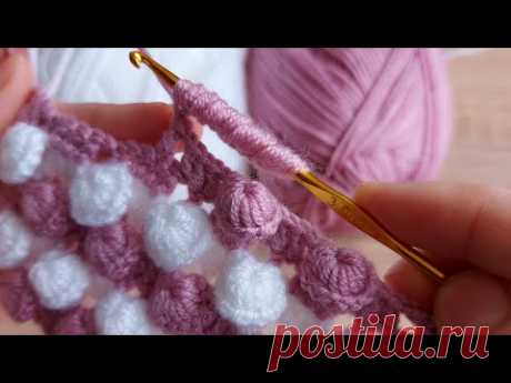 Tığ işi çok kolay örgü deniz kabuğu modeli crochet easy knitting model