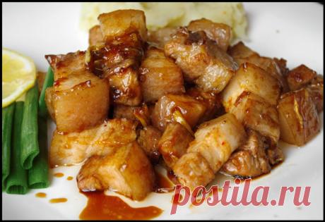 Знакомый китаец поделился вкуснейшим рецептом его фирменной свиной грудинки...