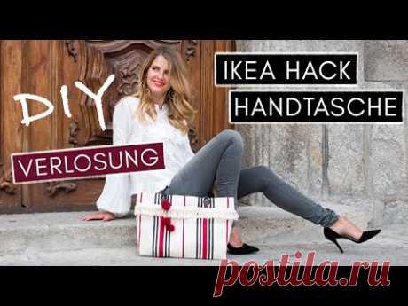 DIY IKEA-Hack Handtasche aus Teppich selber nähen + VERLOSUNG