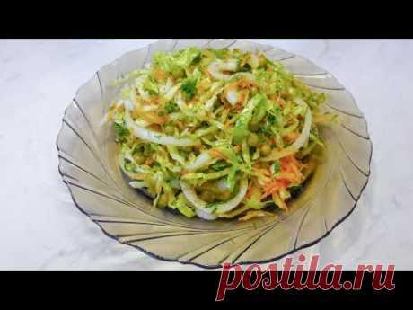 Салат на каждый день! Витаминный салат из свежей капусты/ Простой салат/Fresh Cabbage Vitamin Salad