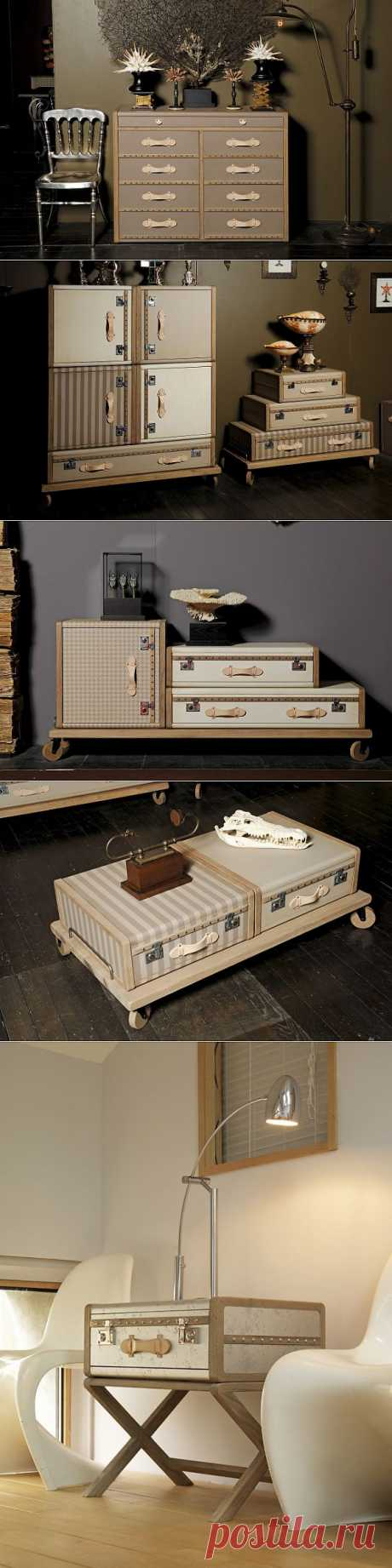 Suitcase furniture \/ Furniture \/ the Fashionable website about stylish alteration of clothes and an interior