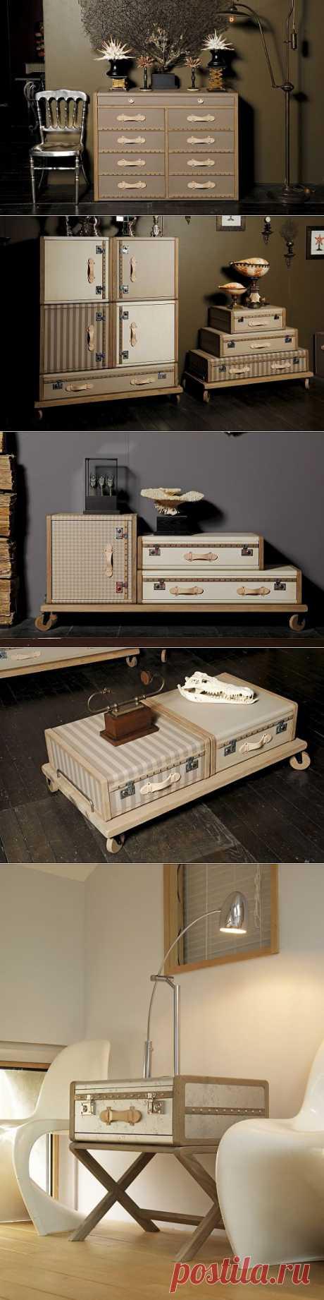 Чемоданная мебель / Мебель / Модный сайт о стильной переделке одежды и интерьера