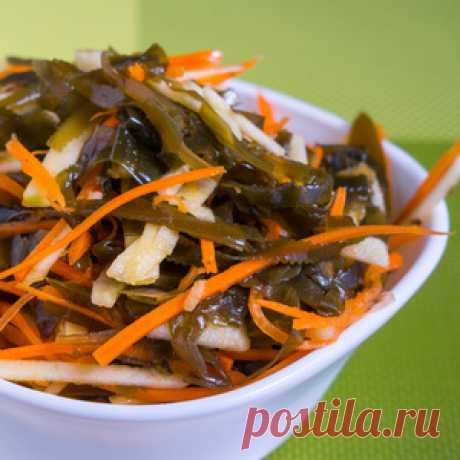Мега вкусный салат с морской капустой за 5 минут. Заряд витаминов на целый день рецепт с фото