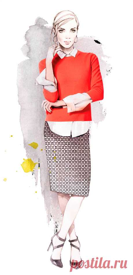Нескучный дресс-код   Милая Я Даже если требования к вашему внешнему виду на работе достаточно консервативные, это совсем не значит, что стоит ограничиваться черно-белой гаммой. Яркие вещи и аксессуары будут также уместны и не выйдут за рамки офисного дресс-кода. Напротив, они сделают ваш образ более стильным и элегантным. Красный джемпер тонкой вязки сможет заменить строгий жакет и оживит классический офисный наряд, состоящий из белой рубашки и юбки-карандаша с графически...