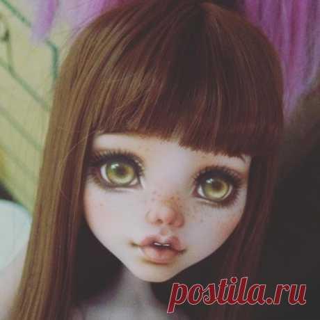 Рисуем личико кукле