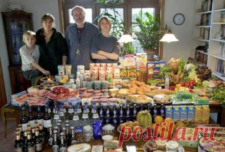 Interestingly - Contents of the refrigerator of families of the different countries