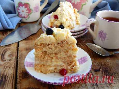 Торт Пломбир без выпечки рецепт с фото пошагово