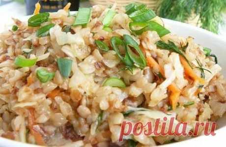 Постная гречневая каша с капустой – рецепт с фото / Простые рецепты