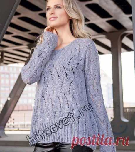 Свободный пуловер с ажурным узором - Хитсовет