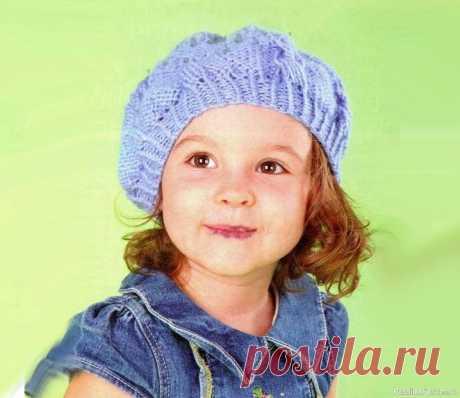 Мастер-класс «Берет, связанный от резинки» | Вязание спицами для детей