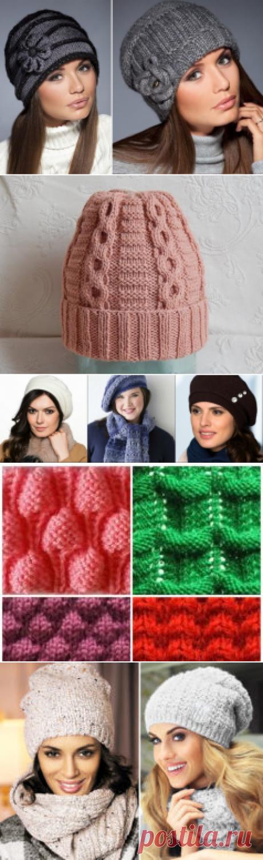 Los gorros tejidos para las mujeres de 50 años - la Foto y los esquemas de d68420c455c