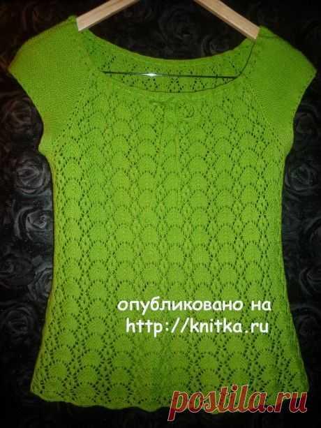 21 ажурный топ связанный спицами с описание и схемами вязания, Вязание для женщин