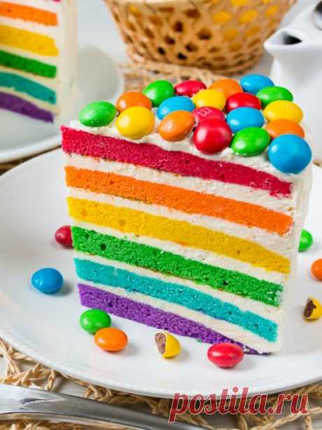 Рецепт радужного торта.