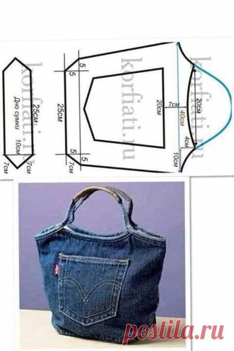 5 фантастических сумок, сделанных из переработанных джинсов - Бесплатные руководства