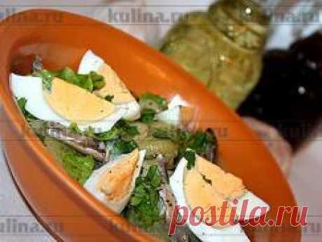 Рецепт Пряный салат с килькой