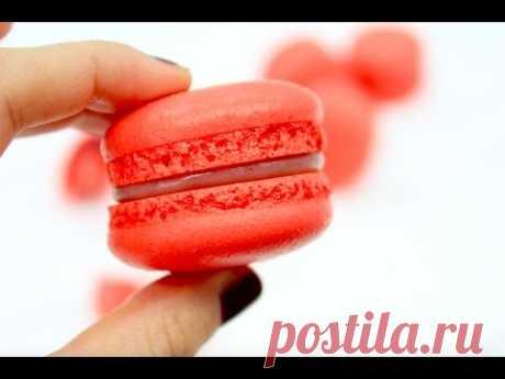 Макарон клубничный / Много нюансов и теории / Strawberry macarons