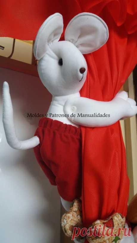 Выкройка мышки  - подхвата для штор в детскую комнату