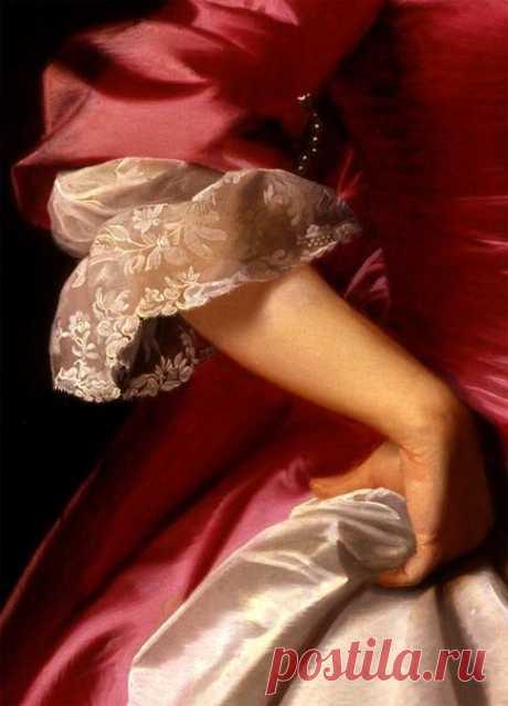 Красные платья XVIII века в живописи / Модное Настроение