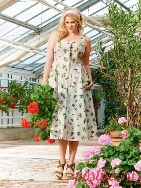 Платье-сарафан - выкройка № 132 из журнала 5/2016 Burda – выкройки сарафанов на Burdastyle.ru