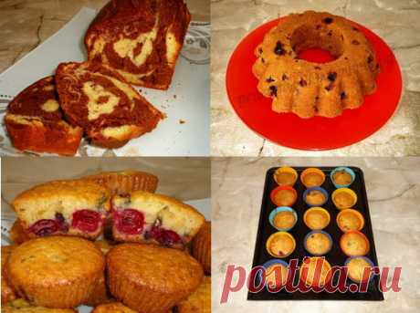 The simple recipe of the test for cakes