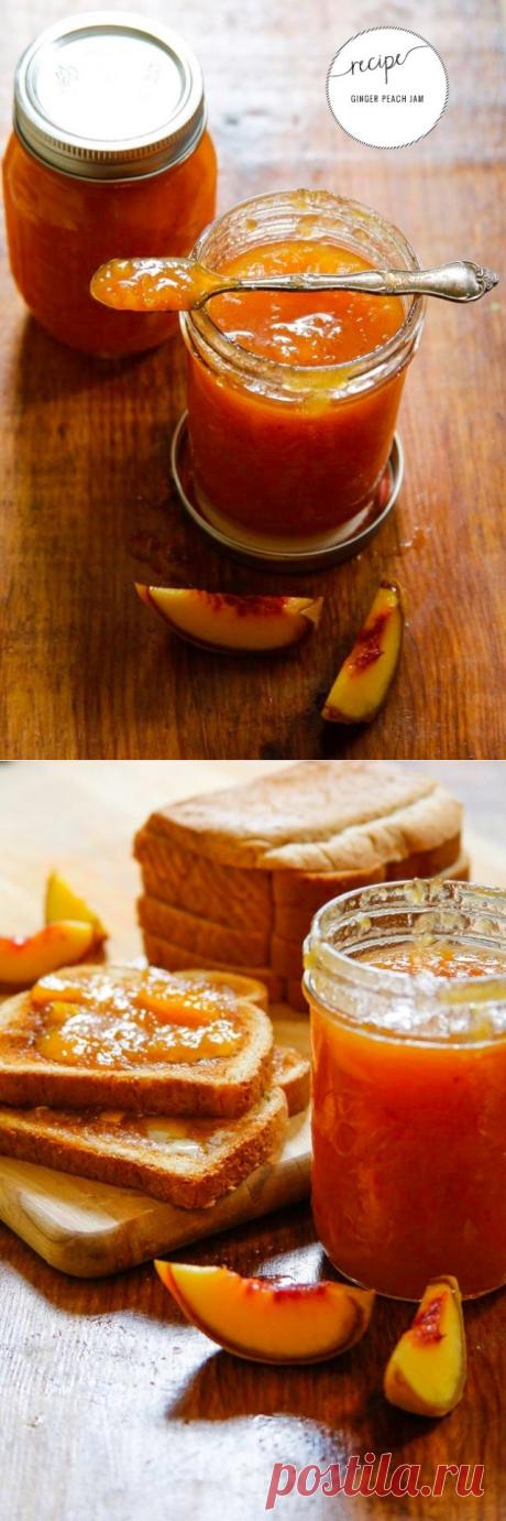 Как приготовить персиковый джем с имбирем - рецепт, ингридиенты и фотографии