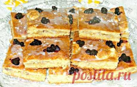 Печенье на кефире со сгущенным молоком и бананом