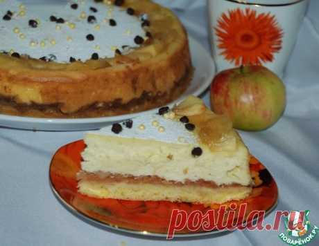 Воздушный осенний сырник с яблоками – кулинарный рецепт