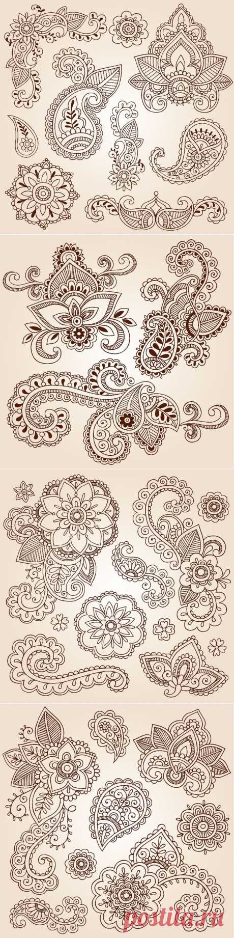 Paisley - шаблоны для росписи.