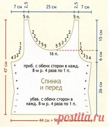 Вяжем стильные летние маечки. | Магия творчества | Яндекс Дзен