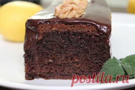 Пышный шоколадный кекс на минералке: пошаговый фоторецепт | Fresh Recipes | Яндекс Дзен