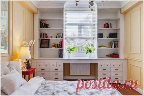 Идеи организации рабочего места у окна для экономии пространства — DIYIdeas