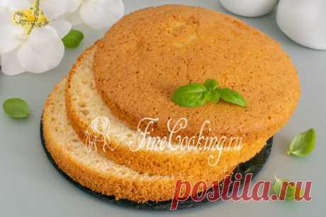 Шифоновый бисквит-нежный,пышный,мягкий и очень вкусный