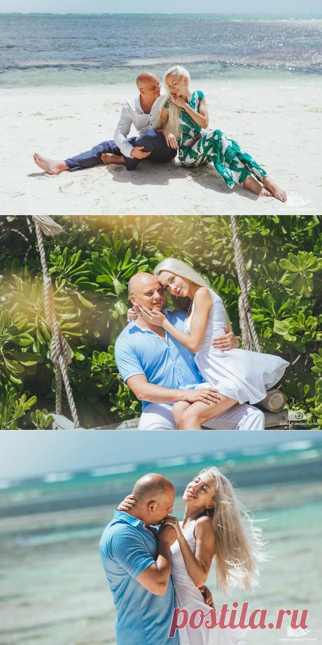 Фотосессия в Доминикане на пляже с белоснежным песком