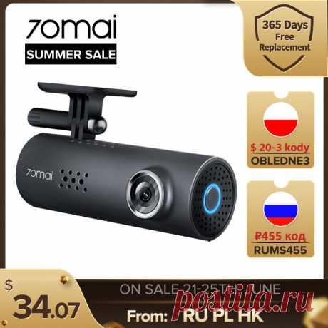 2573.27руб. 28% СКИДКА|70mai Dash Cam 1S Видеорегистраторы для автомобилей Камера Wi Fi 1080P HD Ночное видение g датчика 70 Mai 1S Dashcam видео Регистраторы Английский Голос Управление|Видеорегистраторы|   | АлиЭкспресс Покупай умнее, живи веселее! Aliexpress.com